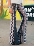 Amazing Printed Bell-bottoms Casual Pants
