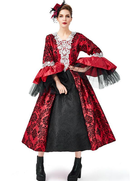 WOMEN VAMPIRE COSTUME RETRO PALACE DRESS