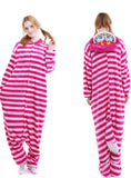 PURPLE CHESHIRE CAT COSTUME WINTER WARM SLEEPWEAR