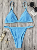 Low Waisted Spaghetti Strap Bikini Swimwear