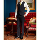 Three Pieces Plaids Slim Blazers for Men Business Gentleman Wedding Formal