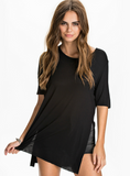 SPLIT TOPS NEW CASUAL LOOSE TEES STEPPE