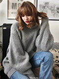Neck Loose Knitting Sweater