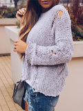 Romance Round-neck Knitting Sweater Tops