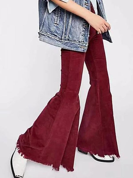Pretty Color Bell-bottom Pants