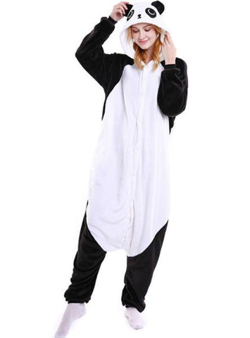 BLACK KUNGFU PANDA COSTUME WINTER WARM SLEEPWEAR