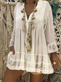 Plus Size Lace Blouses Shirts