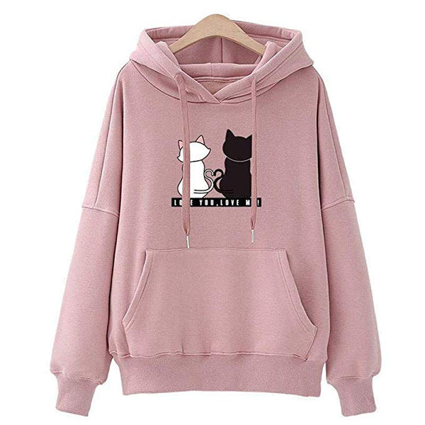 Women Baggy Cat Jumper Pullover Tops Pullover Jumper Sweatshirts Jackets Coats