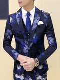 Formal  Men's Suits with Large Flower Printed