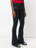 Stylish Asymmetry Bandage Bell-bottoms Pants Bottoms