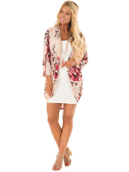 Fancy Floral Printed Cover-up Outwear