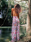 Latest Floral Wide Leg Bottom Casual Pants
