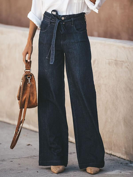Casual Loose Wide-Leg Jeans Pants