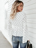 Romance Dot Flared Sleeves Jacket