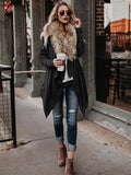 Long Sleeves Solid Color Coat