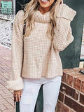 Advanced Color Knitting High-neck Sweater Tops