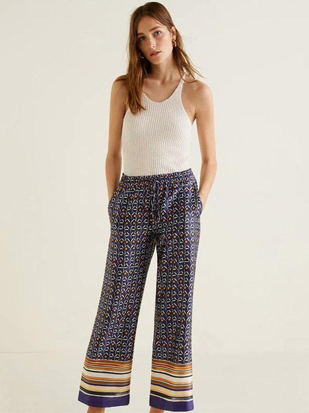 Glamorous Floral Wide Leg Casual Pants