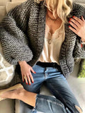 Modern Knitting Bandage Long Sleeves Cardigan Tops