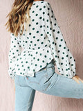 Fashion Dot Falbala Puff Sleeves Blouses&Shirts