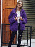 Warm Zip Up Fluffy Winter Coat