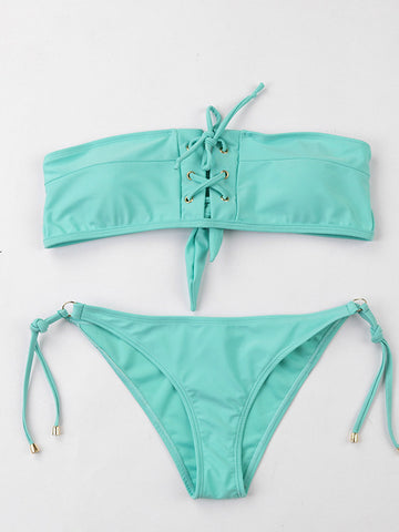 Lace Up New Bikini Set