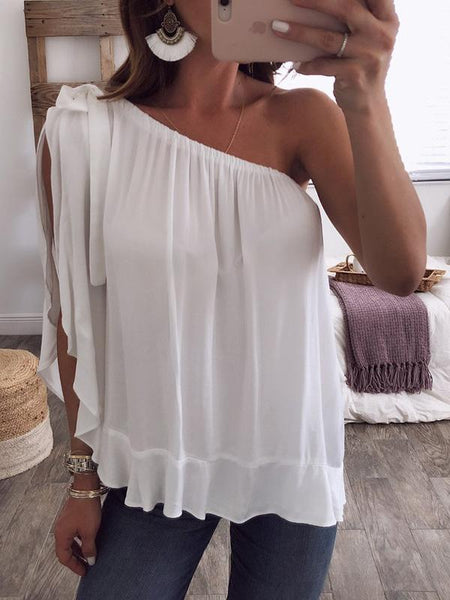 5 Colors Off-the-shoulder T-Shirts Tops