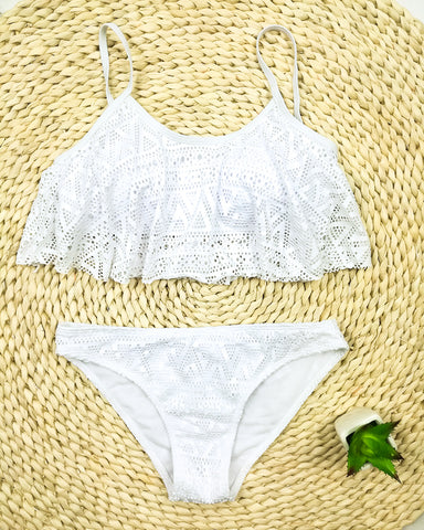 Simple Solid Color Bikini Set Sexy Low Waist Beach Swimwear