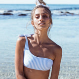 Sexy One Shoulder Bikini Two Pieces Swimsuit