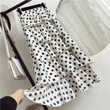 Stunning Button Up Polka Dot Skirt