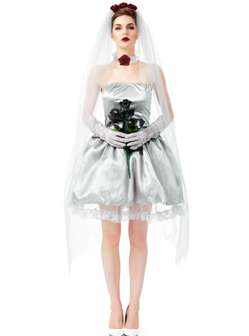 HALLOWEEN COSTUME ADULT COS GHOST BRIDE