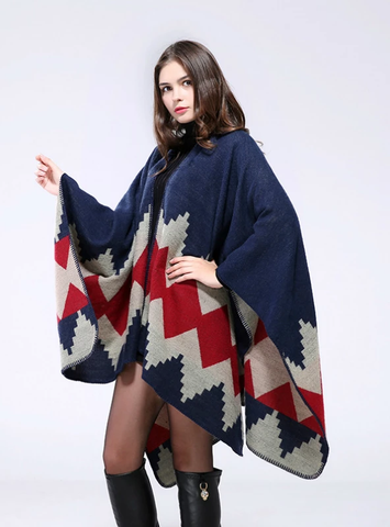 THICKENED AND LENGTHENED CAPE SHAWL SCARF