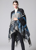 CASHMERE LIKE CAPE WITH SPLIT SHAWLS