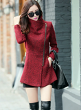 WOMEN'S TEMPERAMENT WOOLEN JACKETS COATS FEMALE