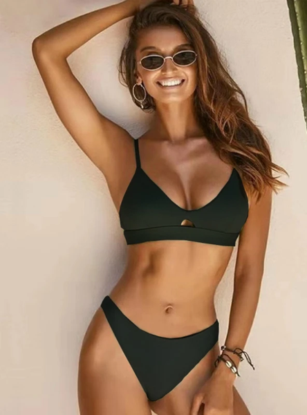 HOLLOW OUT LOW WAIST THONG SWIMSUIT FEMALE SWIMWEAR