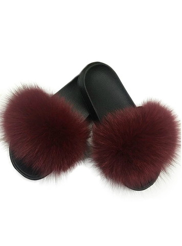 CASUAL RACCON FUR SANDALS FURRY FLUFFY PLUSH SHOES