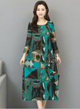 Women Full Sleeve Sheath Fashion Tie Dye Print Dresses
