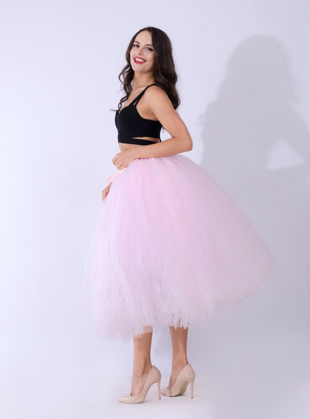 Light Pink Tulle Tutu Middle Skirt