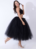 Black Tulle Tutu Middle Skirt