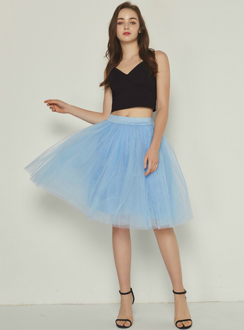 Lake Blue 5 Layer Mesh Tutu Skirt