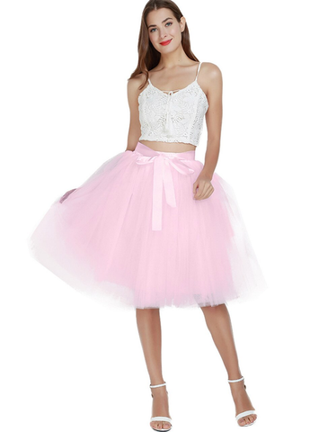 Pink 7 Layers Tulle Tutu Skirt
