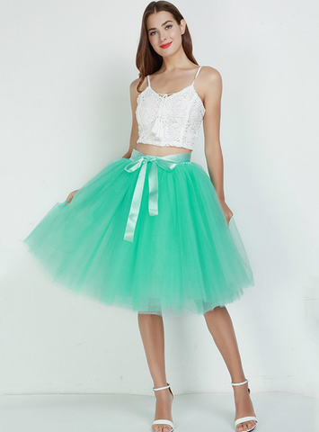 Mint Green 7 Layers Tulle Tutu Skirt