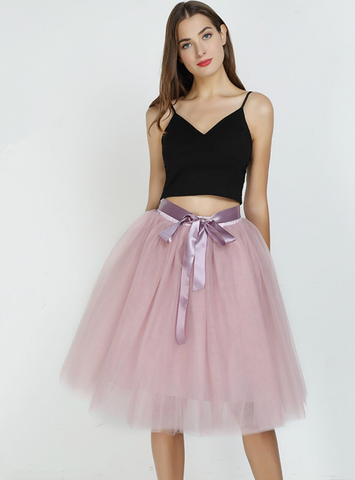 Dusty Pink 7 Layers Tulle Tutu Skirt