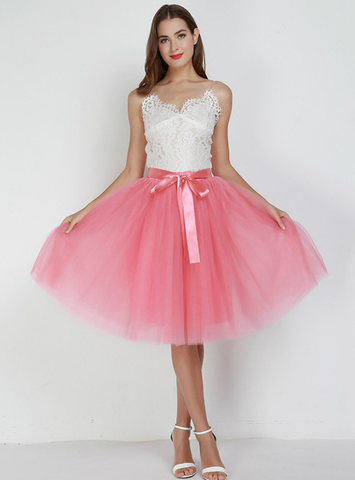 7 Layers Watermelon Red Tulle Tutu Skirt