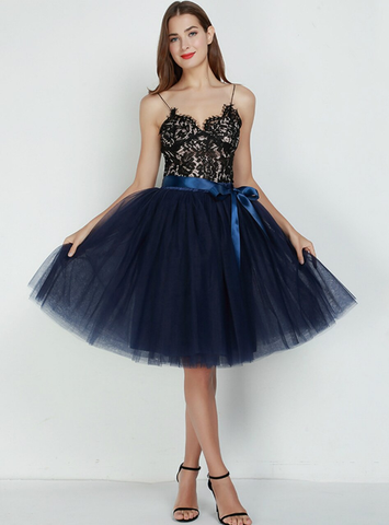 7 Layers Navy Blue Tulle Tutu Skirt