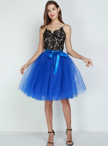 7 Layers Royal Blue Tulle Tutu Skirt