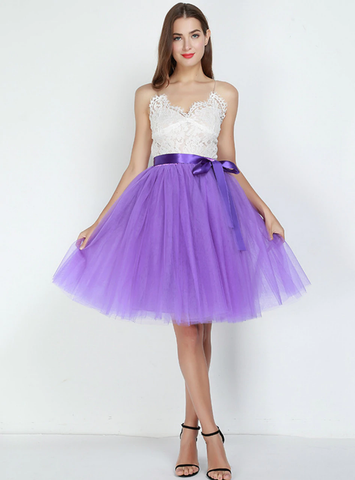 7 Layers Purple Tulle Tutu Skirt