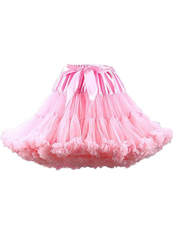 Pink Puffy Tulle Tutu Skirt