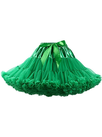 Green Puffy Tulle Tutu Skirt