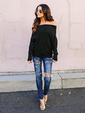 Charming Off-the-shoulder Blouses&Shirt Top