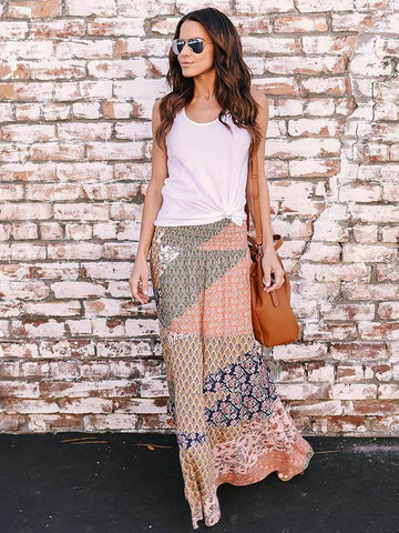 Fashion Big Hemline Skirt Bottoms